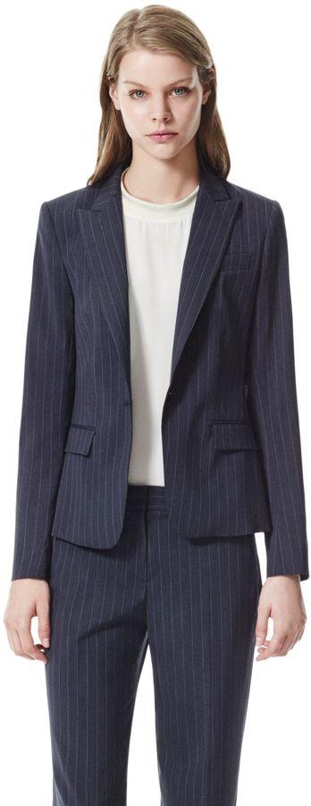 Theory Gabe B 2 Blazer in Banker Stretch Wool