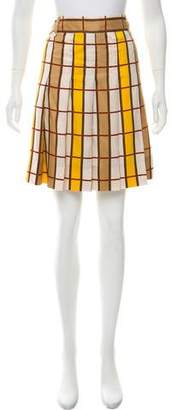 Marc by Marc Jacobs Pleated Plaid Skirt