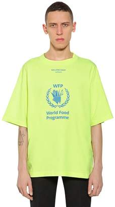 Balenciaga Oversized World Food Program T-Shirt