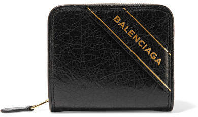 Balenciaga  Balenciaga - Embossed Textured-leather Wallet - Black