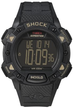 Timex Men's Expedition Digital Shock CAT Watch, Black Resin Strap