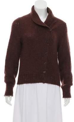 Calvin Klein Collection Mohair-Blend Button-Up Cardigan