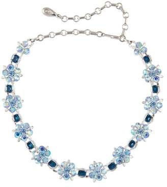 Susan Caplan Vintage 1950s Vintage Lisner Blue Swarovski Crystal Necklace