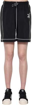 Tech Satin & Cotton Shorts