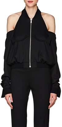 Helmut Lang Women's Cutout-Shoulder Wool Bomber Jacket