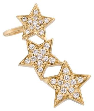 Alinka Stasia diamond triple star ear cuff