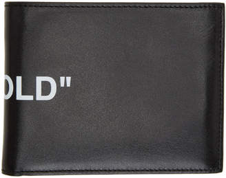 Off-White Off White Black Quote Bifold Wallet