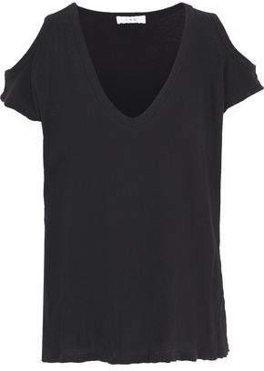 IRO Kahys Cold-shoulder Cotton And Silk-blend Jersey T-shirt