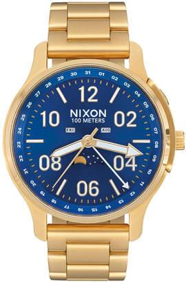 Nixon Ascender All Gold & Blue Sunray Watch