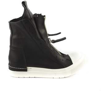 Cinzia Araia Black Grained Calfskin Ankle Boot