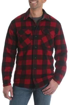 Wrangler Men's Long Sleeve Plaid Wicking Fleece Shirt