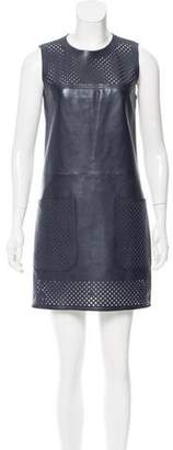 Louis Vuitton Leather Shift Dress