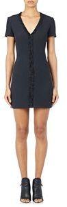 Balenciaga Women's Raw-Edge-Ruffle Crepe Minidress-Black