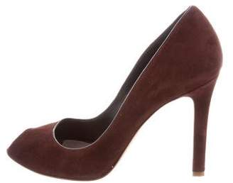 Tom Ford Suede Peep-Toe Pumps