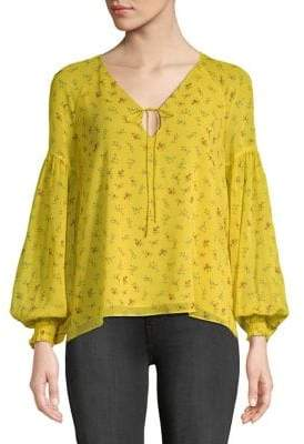 Highline Collective Floral Peasant-Sleeve Blouse