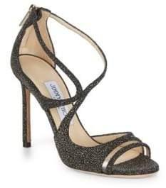 Jimmy Choo Lumiere Glitter Sandals