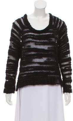 Hakaan Open-Knit Accented Long Sleeve Sweater