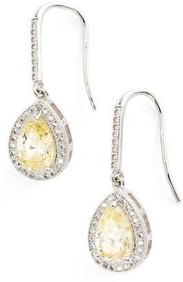 Women's Lafonn 'Lassaire' Canary Drop Earrings $190 thestylecure.com