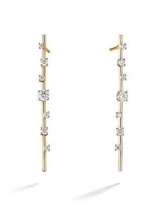 Lana Solo 14k Gold Diamond Stick Earrings