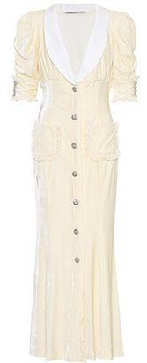 Alessandra Rich Embellished velvet dress