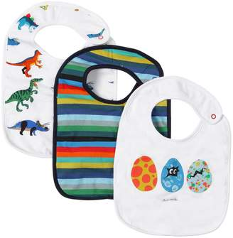 Paul Smith Set Of 3 Printed Cotton Jersey Bibs