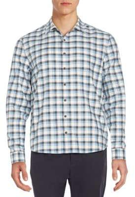 ATM Anthony Thomas Melillo Regular-Fit Plaid Flannel Sportshirt