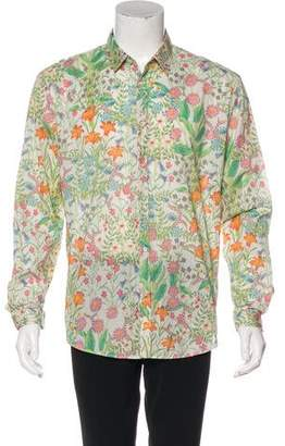 Gucci Floral Patterned Dress Shirt