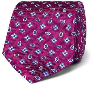 Turnbull & Asser 8cm Paisley Silk-Jacquard Tie