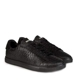 DSQUARED2 Dsquared All Black Low Textured Sneakers