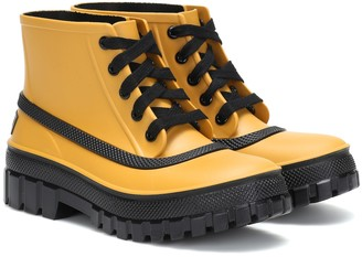 Givenchy Glaston lace-up rubber rain boots