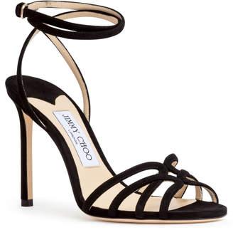 Jimmy Choo Black suede sandals