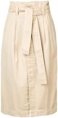 OSKLEN belted wrap front skirt