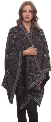 Invisible World Women's 100% Alpaca Hand Made Poncho Sarah