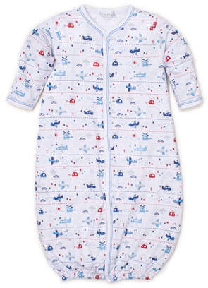 Kissy Kissy Sky Riding Printed Convertible Sleep Gown, Size Newborn-Small