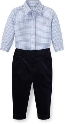 Ralph Lauren Plaid Poplin Shirt & Pant Set
