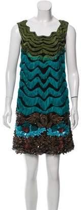 Alberta Ferretti Embellished Shift Dress