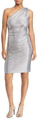 Lauren Ralph Lauren Metallic One-Shoulder Dress