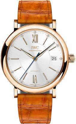 IWC IW458105 Portofino alligator-leather