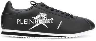 Plein Sport printed logo low top sneakers