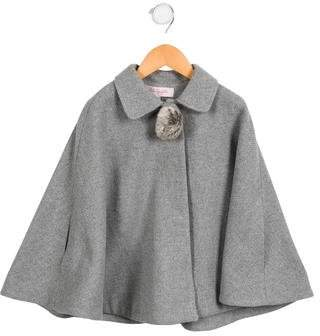 Lili Gaufrette Girls' Tweed Cape w/ Tags