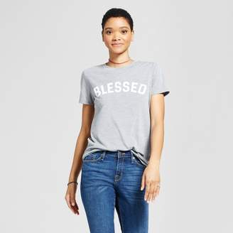 Modern Lux Women's Blessed Graphic T-Shirt Gray - Modern Lux (Juniors')