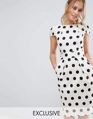 Closet London Closet Polka Dot Cap Sleeve Midi Dress $83 thestylecure.com