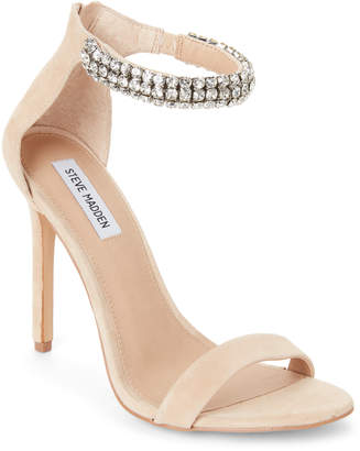 Steve Madden Natural Rando Embellished Ankle-Strap Sandals