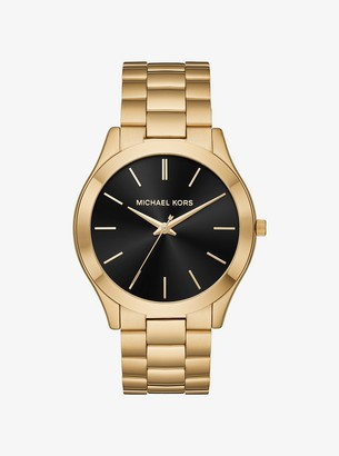 Michael Kors Slim Runway Gold-Tone Watch