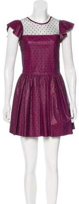 RED Valentino Leather A-Line Dress