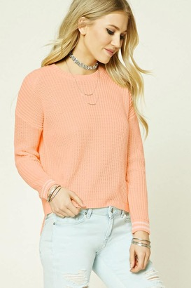 FOREVER 21+ Striped Ribbed Knit Sweater $19.90 thestylecure.com
