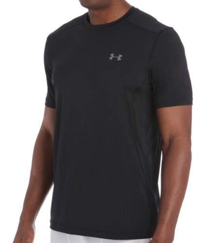 Under Armour 1257466 HeatGear Raid Performance Short Sleeve T-Shirt (Black/Black/Graphite L)