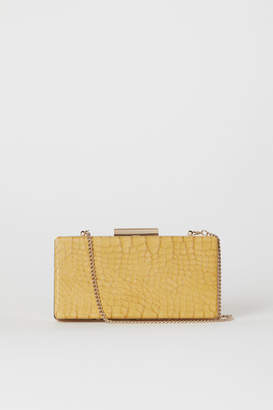 H&M Snakeskin-patterned Clutch Bag - Yellow