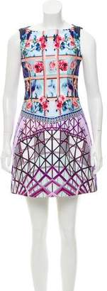 Mary Katrantzou Floral & Geometric Print Mini Dress