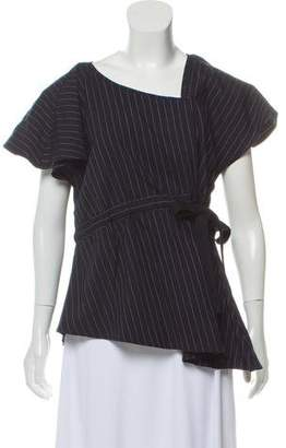 Marissa Webb Pinstripe Wool Top